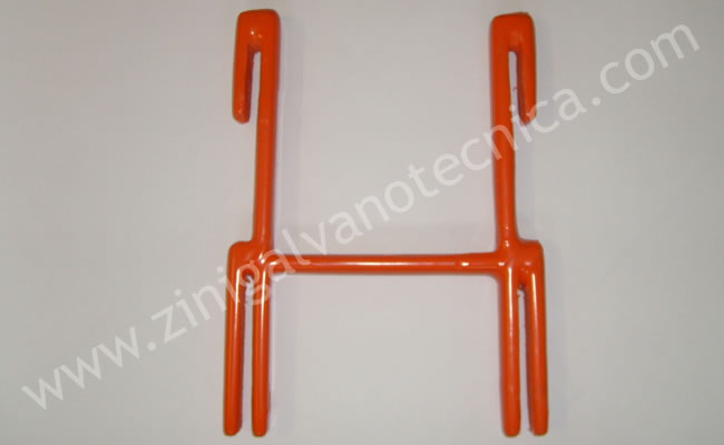 Anodic bars supports for galvanic industry