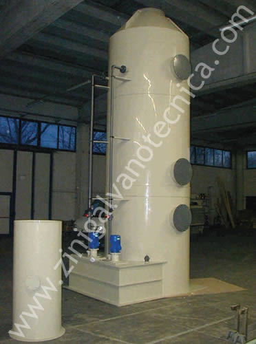 Smoke abatement tower made of pp/pvc 3
