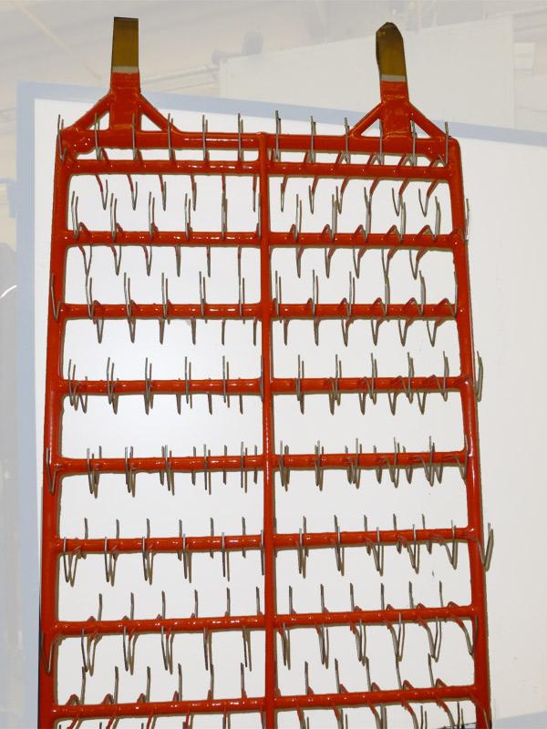 Frame for zinc plating<